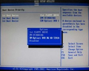 Приоритет загрузки windows на AMI BIOS