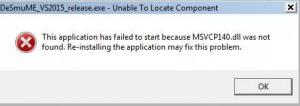 запуск программы невозможен так как отсутствует msvcp140 dll