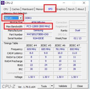 как определить частоту оперативной памяти в CPU-Z