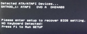 please enter setup to recover bios setting что делать