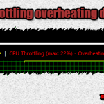 CPU throttling overheating detected