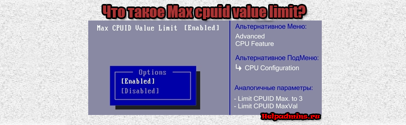 Max cpuid value limit что это