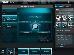 что такое EPU power saving mode