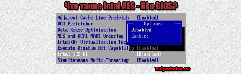 Intel AES - NI что это в биосе?