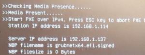 при включении компьютер пытается грузиться из сети