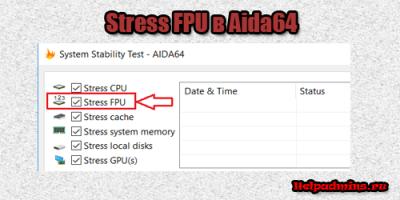 Stress FPU в aida64 что это такое?