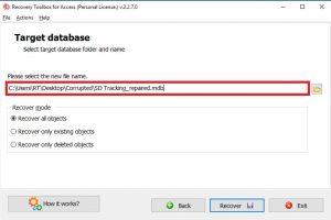 программа для восстановления баз данных MS Access