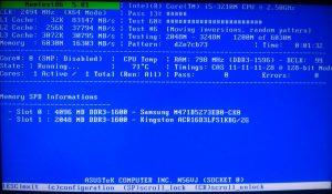 Программа для проверки оперативной памяти memtest86+