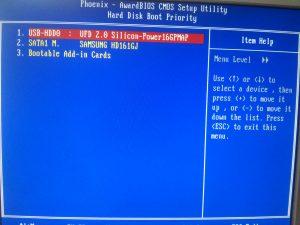 Пункт меню BIOS - Hard Disk Boot Priority