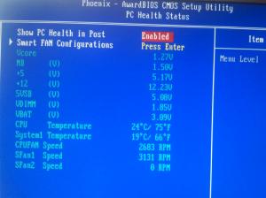 как посмотреть температуру процессора в биосе