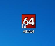 Ярлык установленной программы AIDA64 для просмотра характеристик компьютера