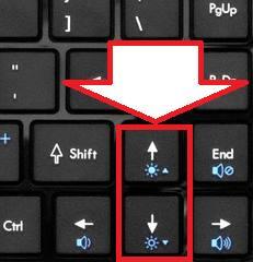 как прибавить яркость экрана на ноутбуке