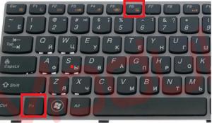 отключить тачпад на ноутбуке