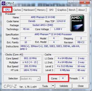как узнать сколько ядер на компьютере windows 7