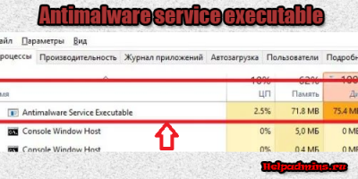antimalware service executable что это