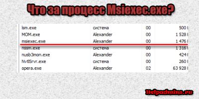 msiexec.exe что это за процесс