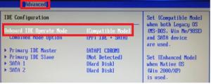 """Как исправить """"убедитесь что контроллер данного диска включен в меню bios компьютера"""""""