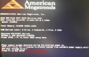 Что такое CPU over voltage error