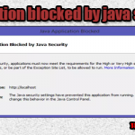 "Ошибка ""Application blocked by java security"" как исправить"