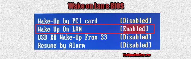 Wake on lan в биосе что это