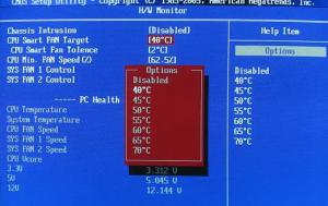 Cpu smart fan target в BIOS