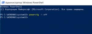 как выключить гибернацию в Windows 10?