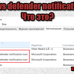 Windows defender notification icon что это