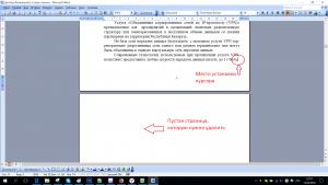 Удаление пустой страницы в MS Word
