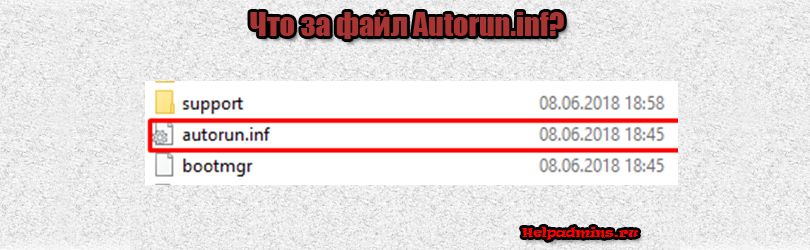 Autorun.inf что это за файл?