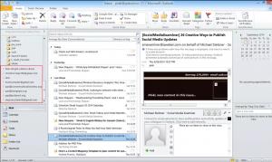 Рабочее окно Microsoft Outlook