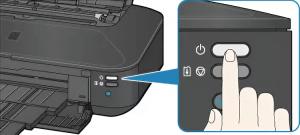 вариант расположения кнопку отключения принтера