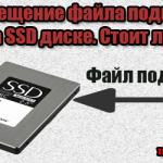 swap файл на ssd диск