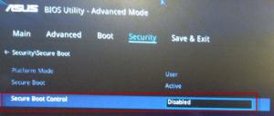 как отключить Secure Boot Control в BIOS Utility – EZ Mode