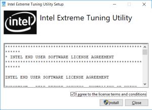 как установить Intel Extreme Tuning Utility