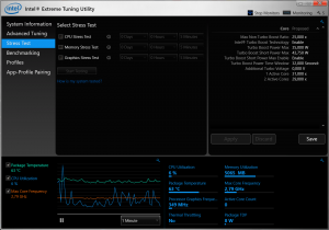 функции Extreme Tuning Utility