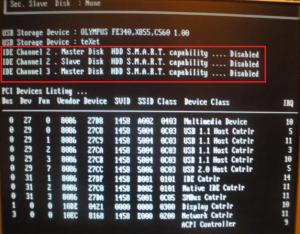 надпись HDD Smart Capability