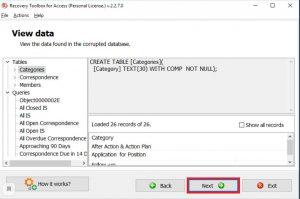восстановление файлов .MDB