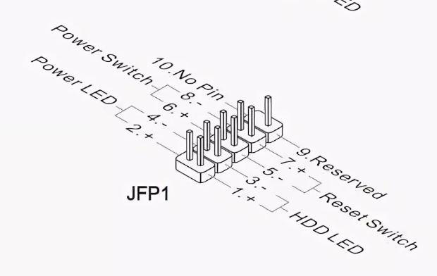Распиновка jfp1