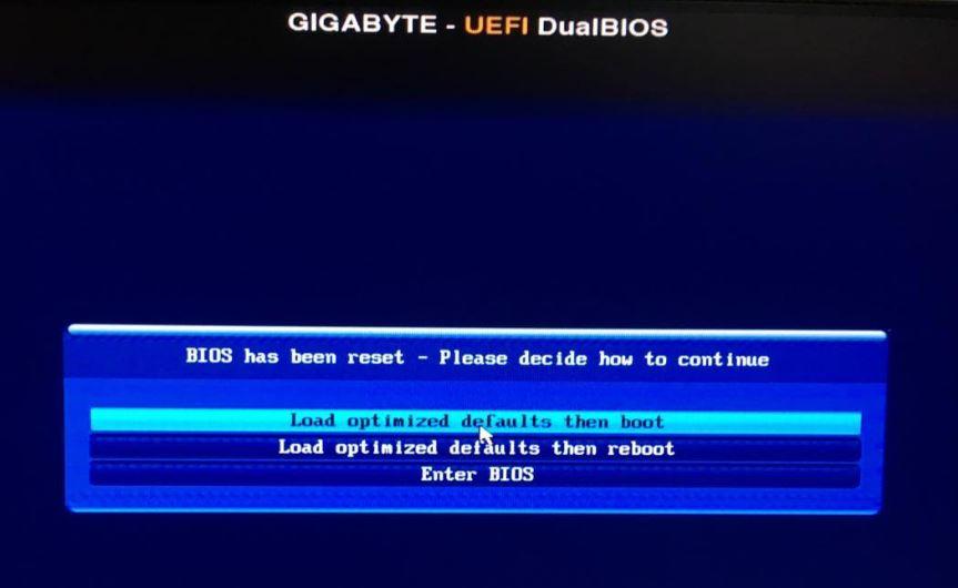 как исправить BIOS has been reset - Please decide how to continue