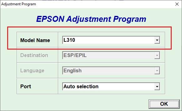 Epson L312 обнуление счетчика чернил