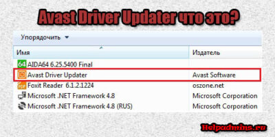 Avast Driver Updater что это за программа и нужна ли она