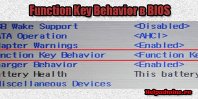 Function Key Behavior в биосе что это