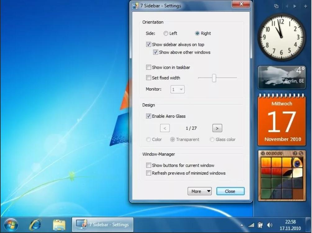 windows sidebar что это за программа и нужна ли она
