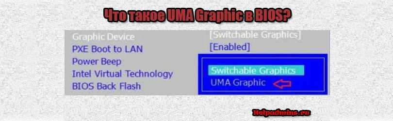 что такое UMA Graphic